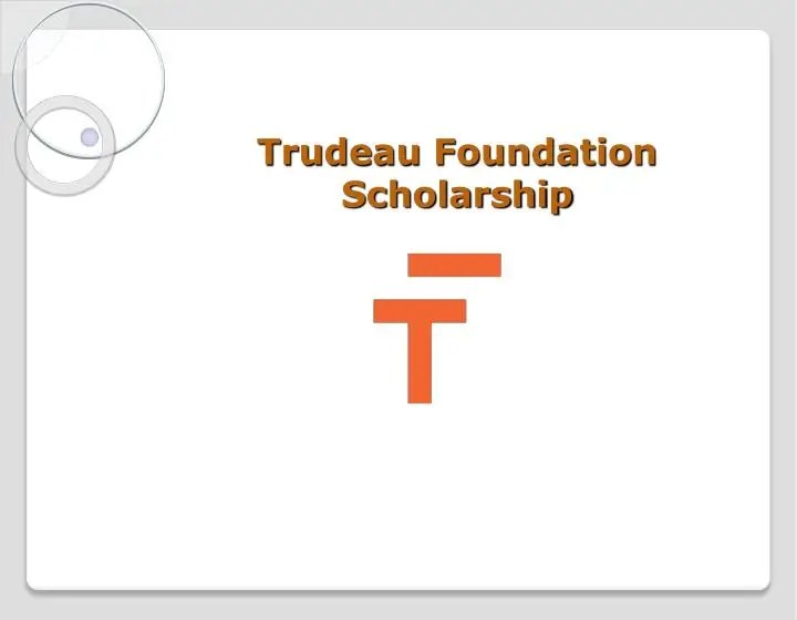 Trudeau foundation scholarship