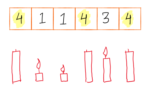 image showing 3 blown out candles