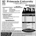 Primeasia University Admission Fall 2017