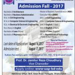 University of Asia Pacific Admission Fall 2017