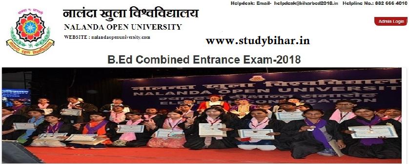 Nalanda open university bed cet 2018