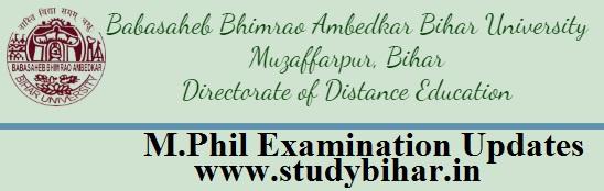 Mphil Exam updates