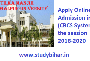 Apply Online for Admission in P.G (CBCS System) for the session 2018-2020
