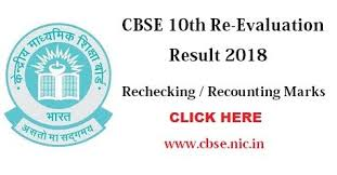 CBSE - Result of 10th and 12th Examination - 2019 and Apply for Re-Evaluation