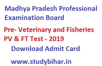 Pre- Veterinary and Fisheries PV & FT Test - 2019