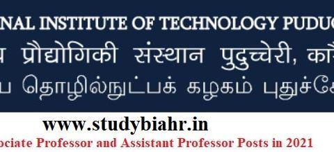 Apply Online for Professor, Associate Professor and Assistant Professor Posts in NIT- Puducherry