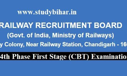 NTPC Fourth-Phase (First Stage) CBT-Examination-2021, Notice Date -04/02/2021.