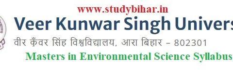 Download the Masters in Environmental Science Syllabus of Veer Kunwar Singh University, Ara-Bihar