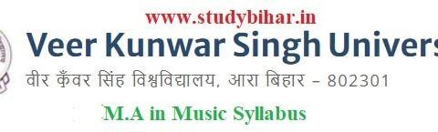 Download the M.A in Music Syllabus of Veer Kunwar Singh University, Ara-Bihar