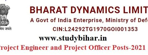 Apply for Project Engineer and Project Officer Vacancy in BDL, Last Date = 31/03/2021.