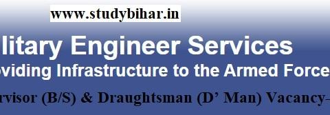 Apply Online for Supervisor (B/S) & Draughtsman (D' Man) Vacancy in MES , Last Date-12/04/2021.