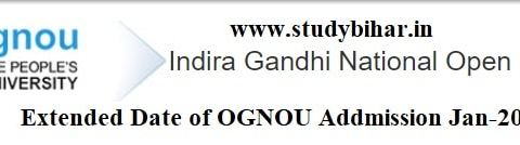 Apply Online for Addmission in IGNOU, Last Date Extended Upto- 15/04/2021.