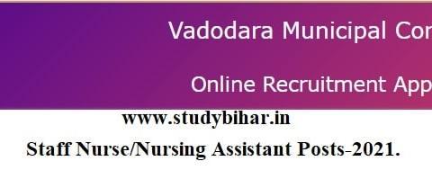 Apply Online for Staff Nurse/Nursing Assistant Posts-2021, Last Date-15/04/2021.