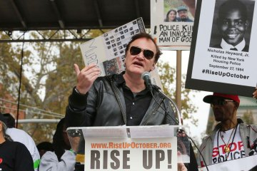 Quentin Tarantino at #BlackLivesMatter Rally