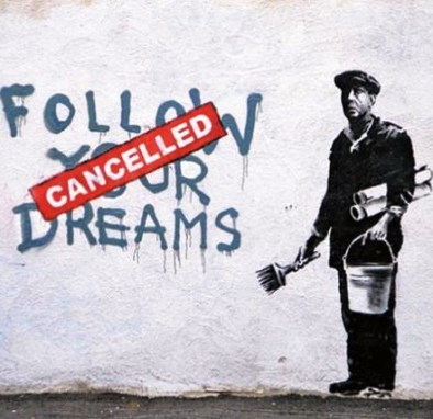 Banksy is a pessimist