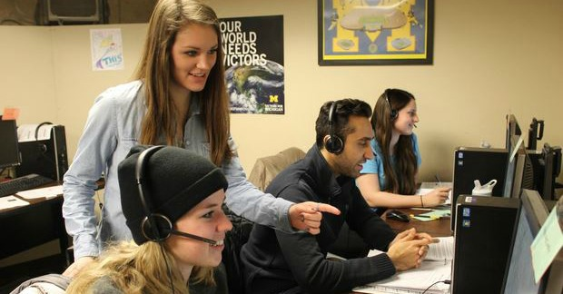 Telefund students at Michigan