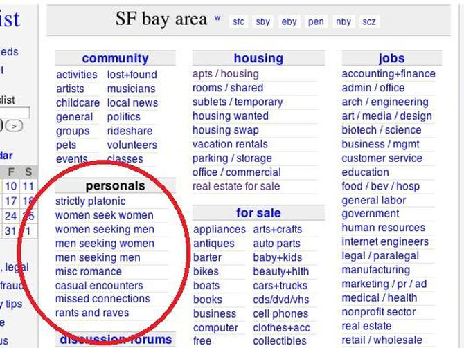 Local craigslist personals