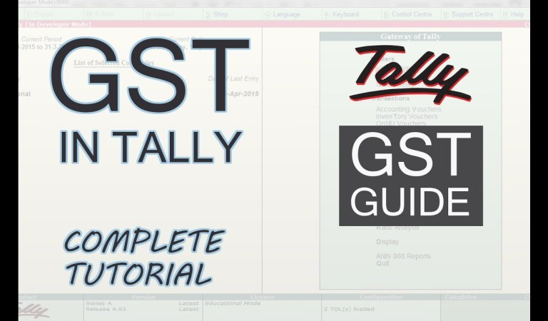 How to Setup GST in Tally
