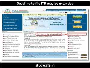 Official Notification for Extension of Income Tax Return Due date to 31 Oct 2017