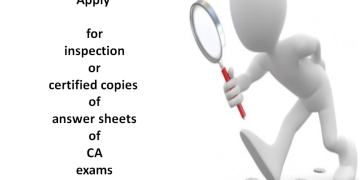 how to apply for inspection or certified copies of answer sheets of CA exams