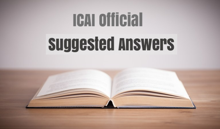 CA Final May 2019 Question Papers with Suggested Answers