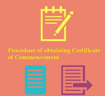 Procedure of obtaining Certificate of Commencement
