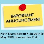 New Examination Schedule for May 2019 released by ICAI