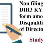Non filing of DIR3 KYC form amounts to Disqualification of Director?