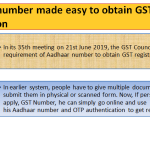 Aadhaar number made easy to obtain GST registration