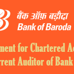 Empanelment for Chartered Accountant as Concurrent Auditor of Bank of Baroda