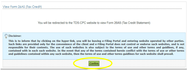 How to view & download form 26AS