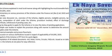 Release of E-Book on Sabka Vishwas (Legacy Dispute Resolution) Scheme, 2019 by Mr. Bimal Jain