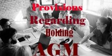 Provisions Regarding Holding AGM