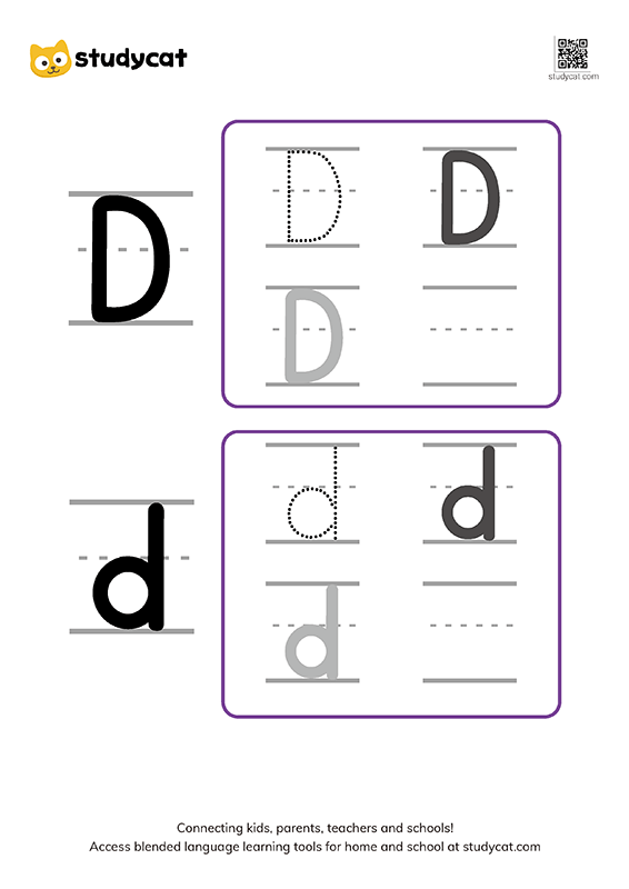 Letter Dd Writing Worksheets