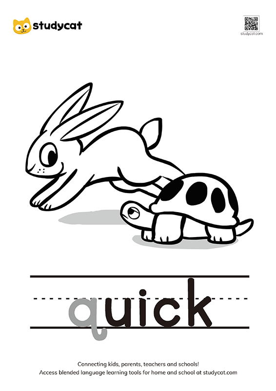 Letter Qq Colouring Worksheets