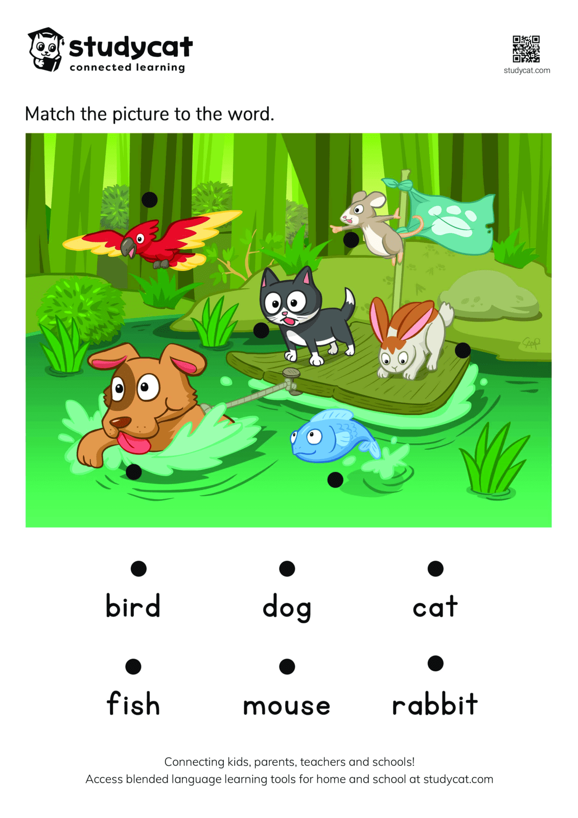Pet Animal Matching Worksheet