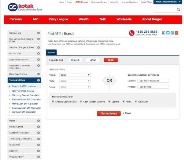 how to change address in kotak mahindra bank online