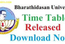 Bharathidasan University Time Table 2019