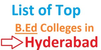 List of Top B.Ed Colleges in Hyderabad 2019