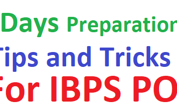 Get all details of 7 Day Preparation Tips for IBPS PO 2019-20 PO/MT Pre/ Mains Exam Know all info best preparation tips for ibps po 2019