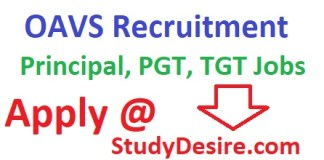 Get all details of OAVS Recruitment 2019 for Principal, PGT, TGT OAVS Jobs Vacancy 2019 OAVS Teaching Jobs 2019 apply now Application form