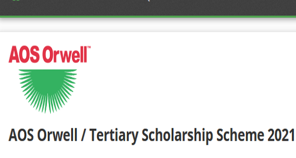 AOS Orwell Tertiary Scholarship Scheme 2021/2022 for Undergraduates