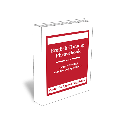 English Hmong Phrasebook with Useful Word List