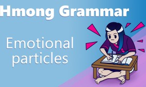 hmong grammar emotional particles