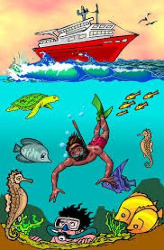diver gets fish