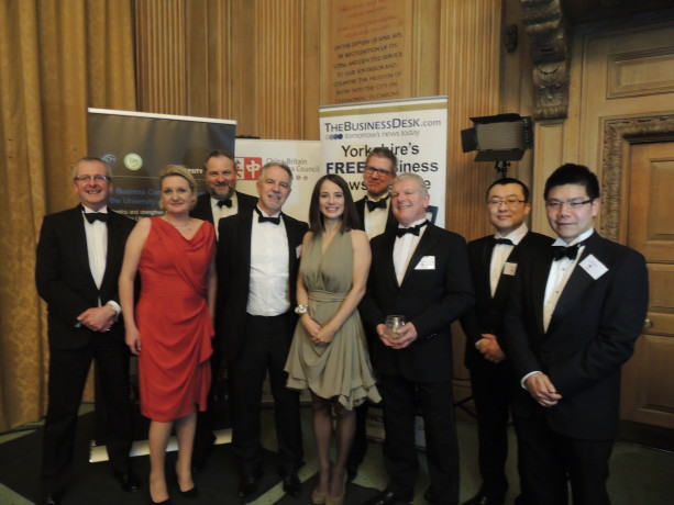 Study Links Ailie with some of the other finalists at the  Yorkshire & Humber China Business Awards