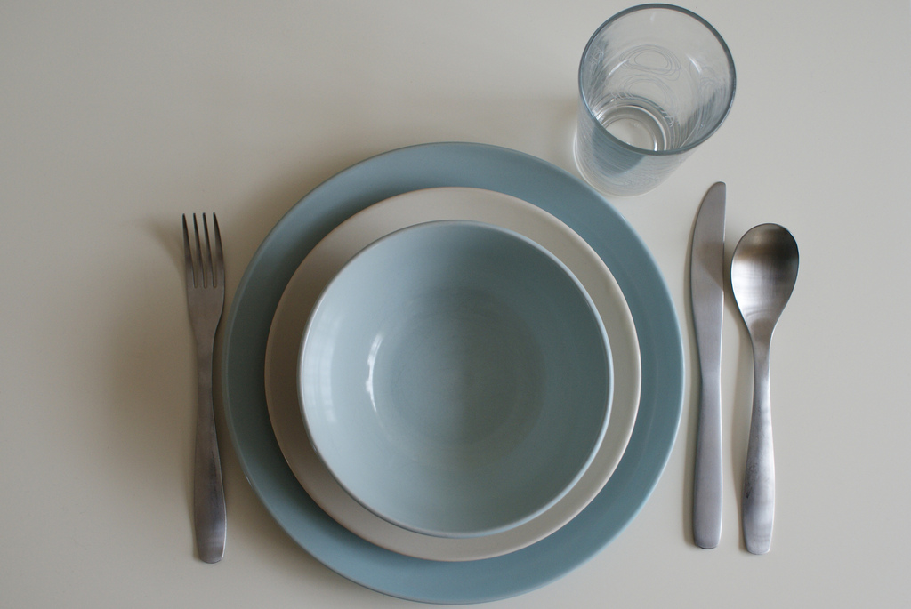 British Etiquette - table manners - place set for dinner