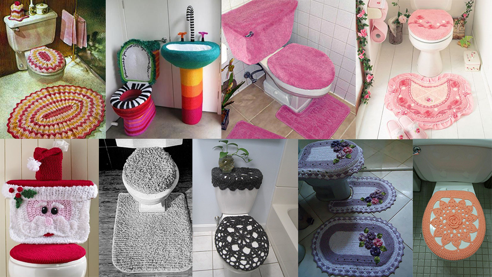 Toilet seat covers and mats