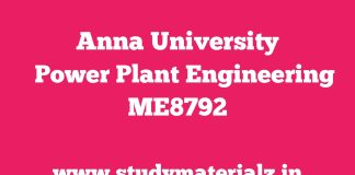 ME6701 Power Plant Engineering (PPE)