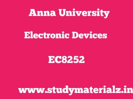 EC8252 Electronic Devices